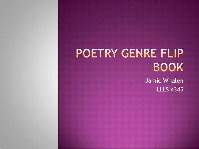 Poetry Genre Flip Book