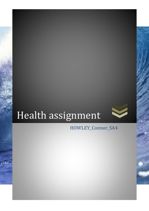 Health assignment
