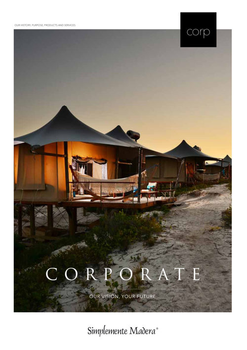 Simplemente Madera | Corporate booklet