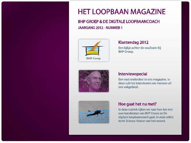 Het Loopbaan Magazine - nummer 1