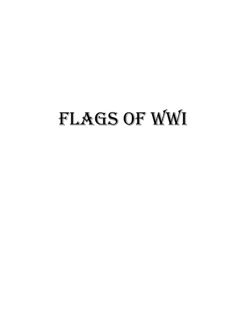 Flags of WWI