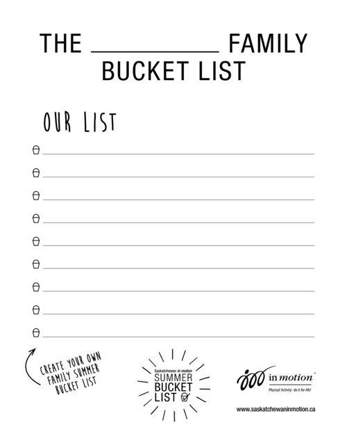 Saskatchewan in motion Summer Bucket List
