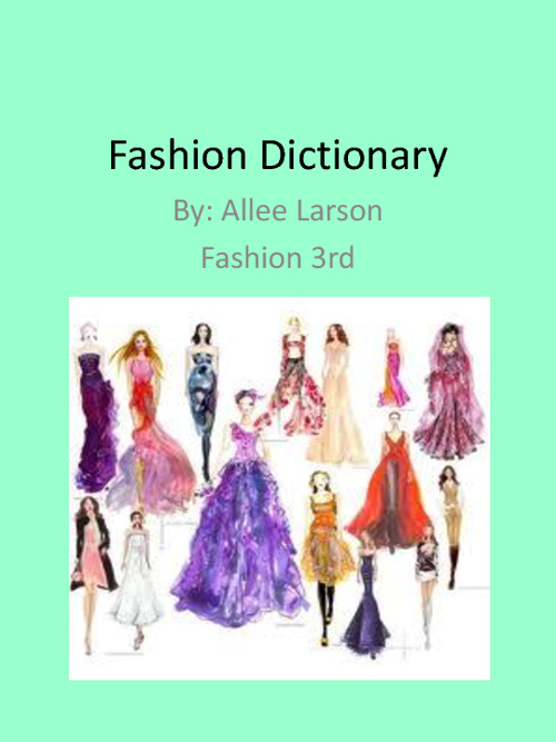 Fashion Dictionary By Allee Larson