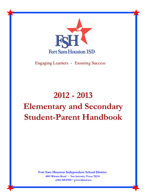 2012-2013 FSHISD Student-Parent Handbook and Code of Conduct