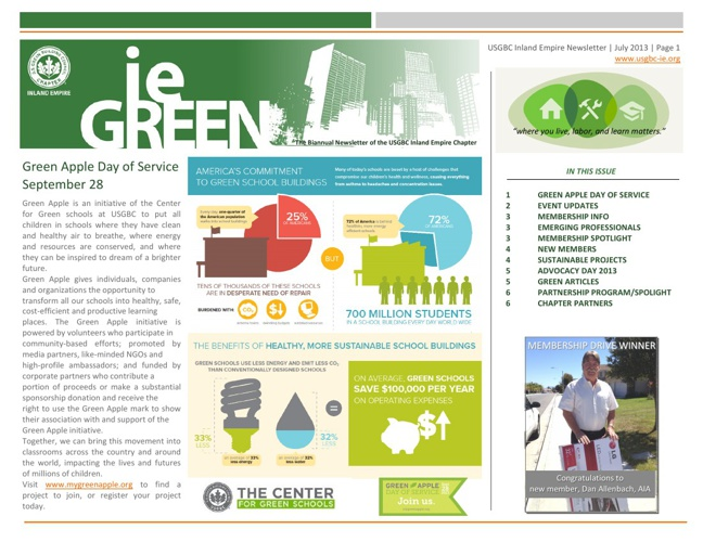 Newsletter: Inland Empire Chapter - US Green Building Council