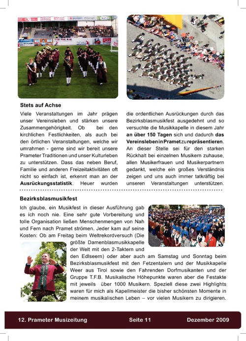 Musizeitung 2009 (Teil 2)
