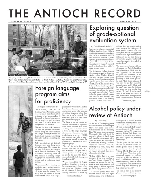 The Antioch Record - March 19, 2014