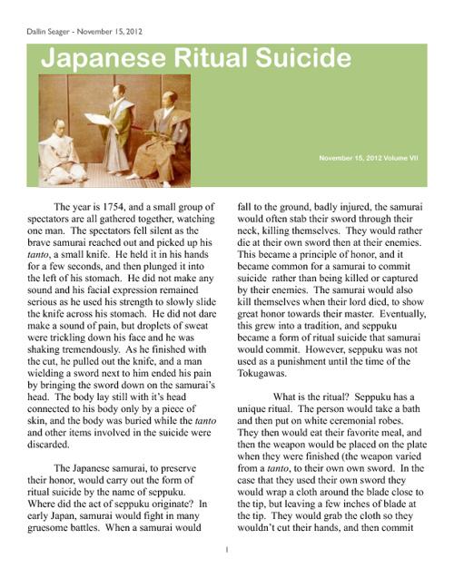 Seppuku Article