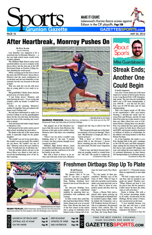 Gazette Sports | May 26, 2016