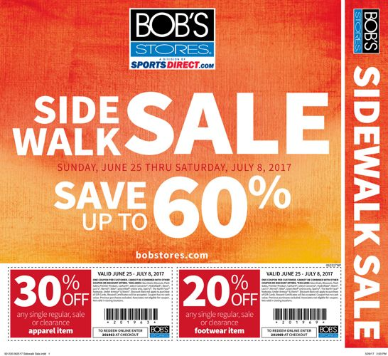 062517 Bob's Sidewalk Sale Flyer