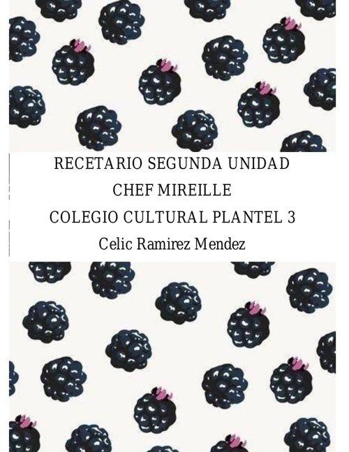 RECETARIO SEGUNDA UNIDAD