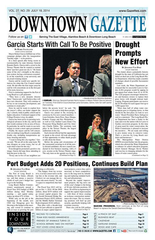 Downtown Gazette  |  July 18, 2014