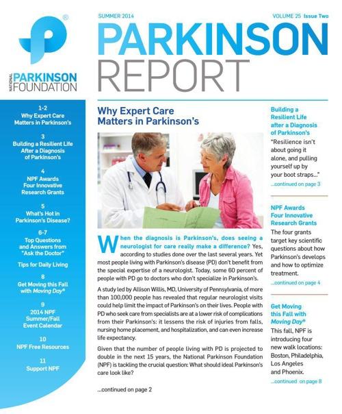 Parkinson Report: Summer 2014