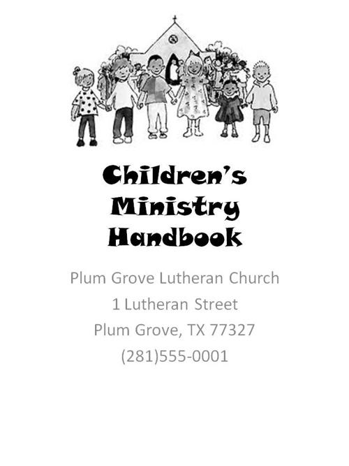 Children's Ministry Handbook 2013-2014