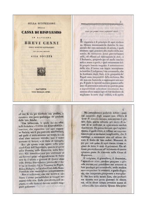 Cassa di Risparmio di Ravenna - Brevi cenni 1838