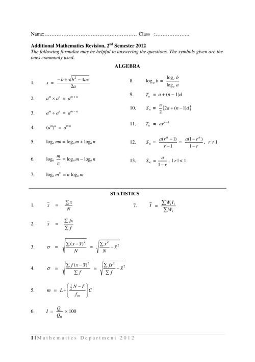 Soalan Standardised Test