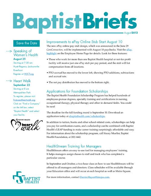 August Baptist Briefs