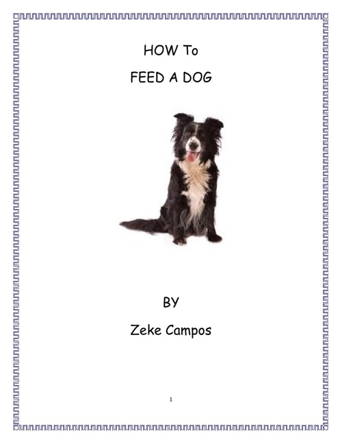 How to Feed a Dog by Zeke Campos