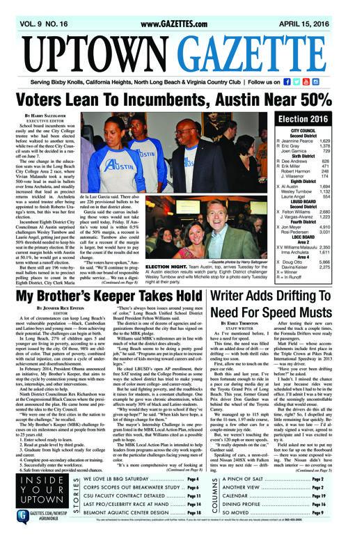 Uptown Gazette  |  April 15, 2016