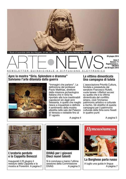 """""""Arte News"""" -  30 giugno 2014"""