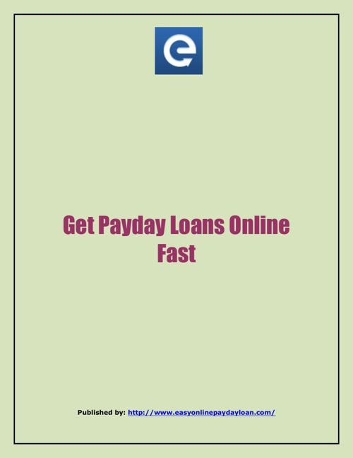 Get Payday Loans Online Fast