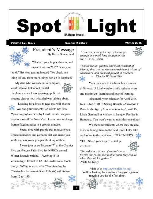 Spotlight Winter 2015