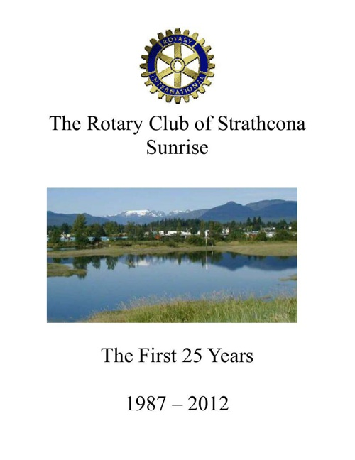 Rotary 25 th Anniversary Report 5-10- formatted