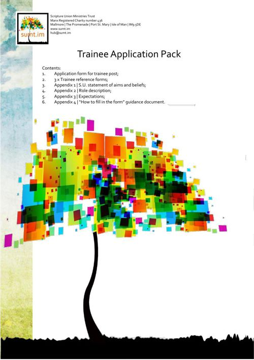 SUMT Trainee Application pack