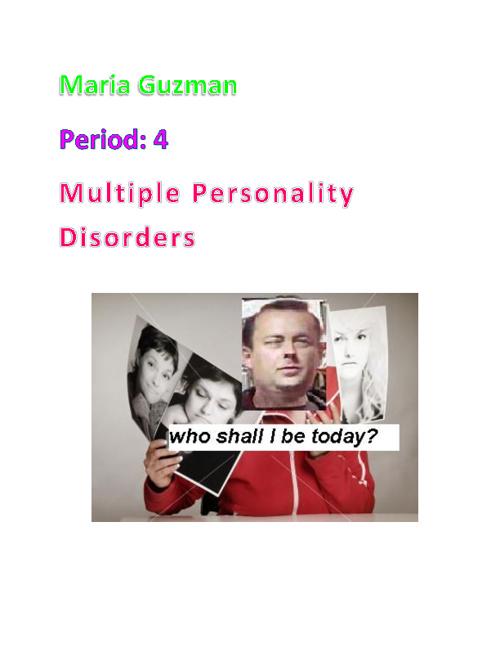 Mult Personalites