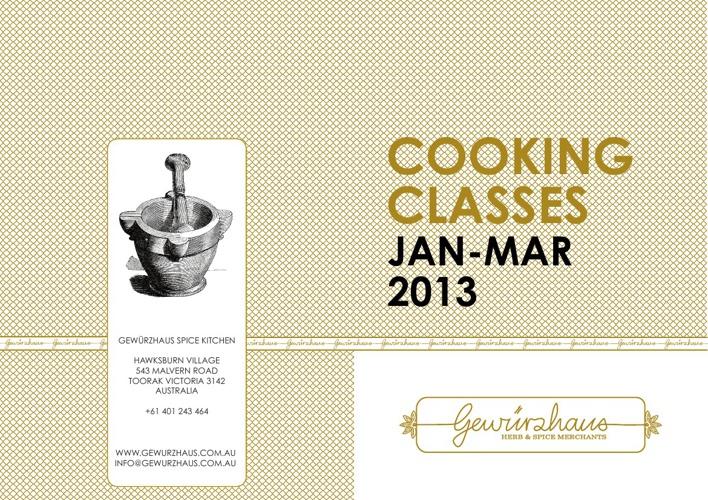 Gewürzhaus Spice Kitchen Brochure Jan to March 2013