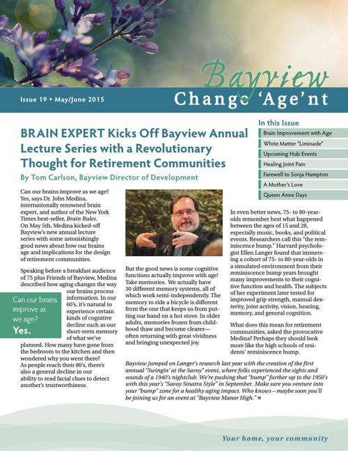 Bayview June 2015 Change 'Age'nt Newsletter