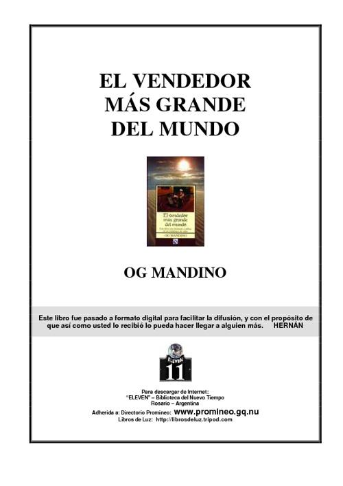 EL VENDEDOR MAS GRANDE DEL MUNDO