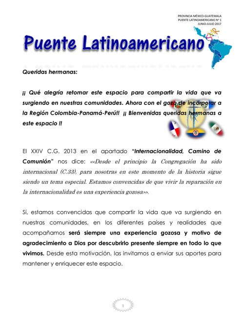 Puente Latinoamericano No. 1 Junio-Julio 2017