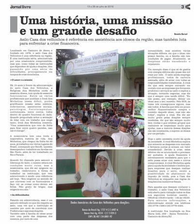 JORNAL LIVRE EDIÇÃO 03