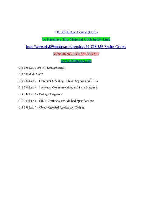 CIS 339 MASTER Education Expert/cis339master.com