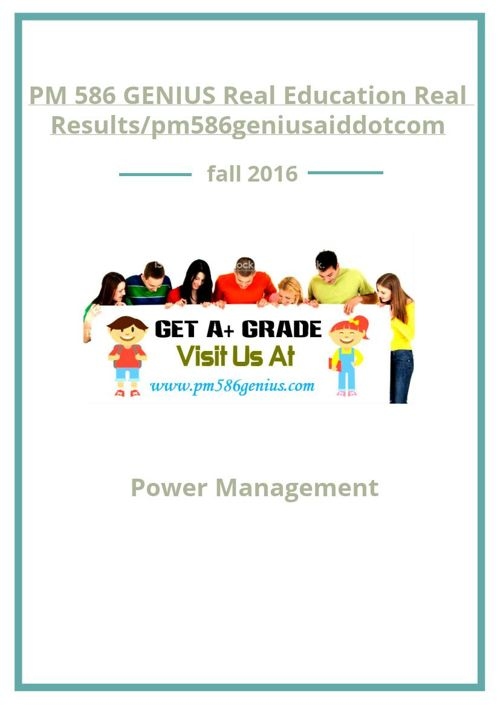 PM 586 GENIUS Real Education Real Results/pm586geniusaiddotc