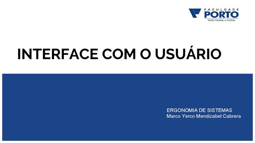 ERG04 - Interface com o Usuário