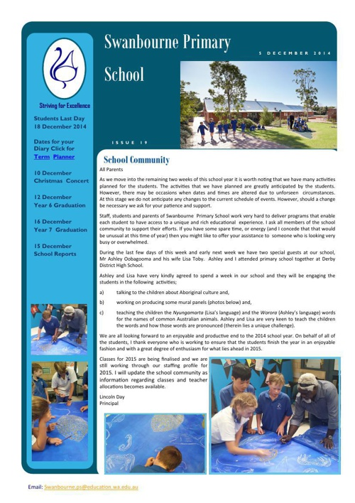 Newsletter Term 4              5.12.14