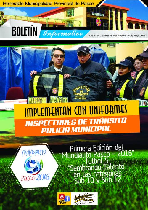 BOLETÍN MUNICIPAL N° 025
