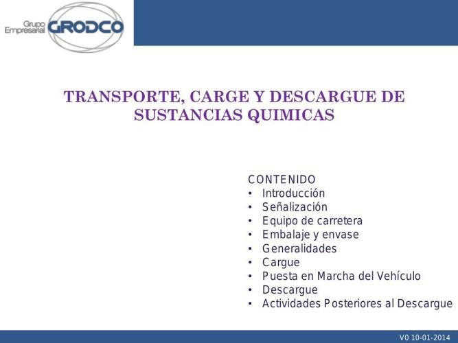 1 TRANSPORTE, CARGE Y DESCARGUE DE SUSTANCIAS QUIMICAS OK