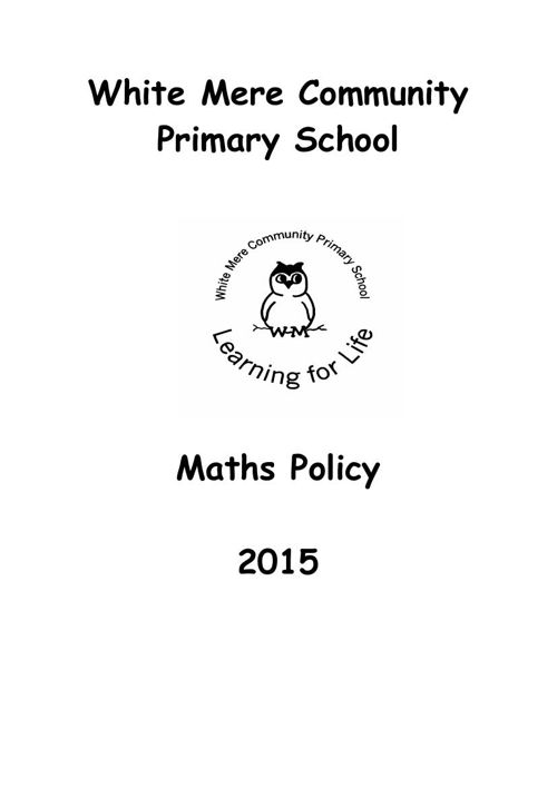 Maths Policy 2015