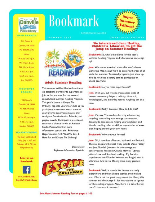 Bookmark Summer 2015