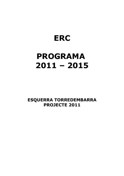 Programa 2011-2015