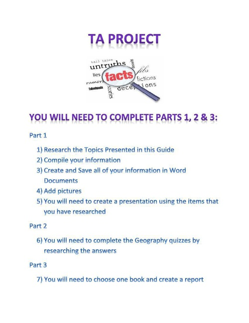 TA Project booklet