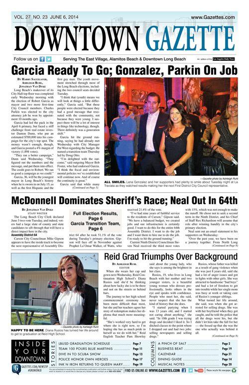 Downtown Gazette     June 6, 2014