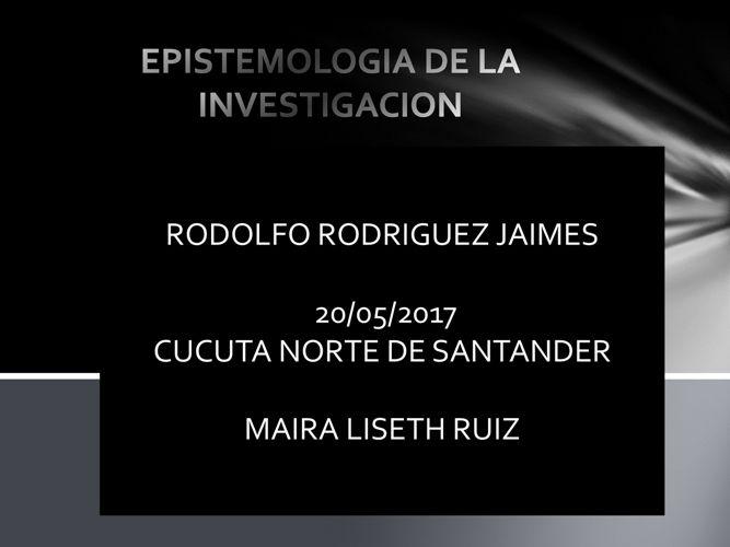 EPISTEMOLOGIA DE LA INVESTIGACION RODOLFO RODRIGUEZ 123