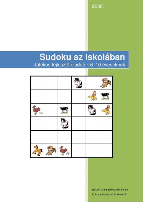 Sudoku az iskolaban