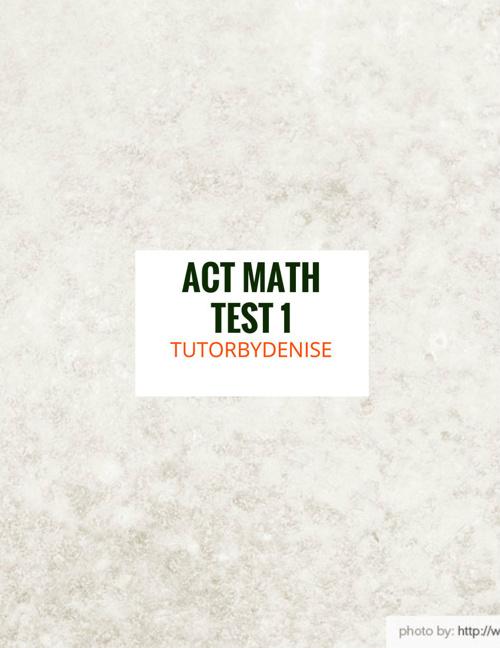 ACT Math Full Test 1