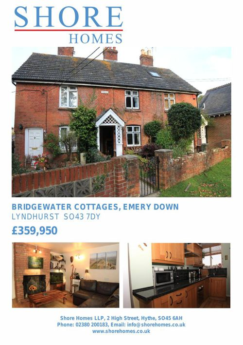 2 bedroom cottage for sale Bridgewater Cottages, Emery Down, SO4