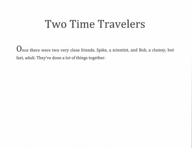 The Two Time Travelers